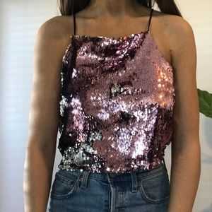 Forever 21 Sequin Tank Top